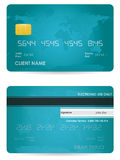 Credit card. Front and back view Stock Photography
