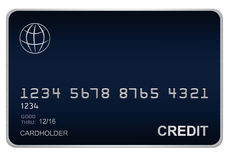 Credit Card. A generic credit card that can be used as is or modified as needed Royalty Free Stock Photos