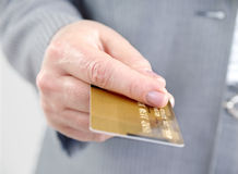 Credit card. Royalty Free Stock Photos