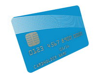 Credit card. Simple credit card isolated on white Royalty Free Stock Image