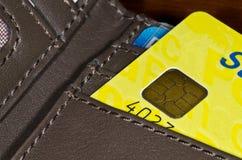 Credit card. In the portfolio Stock Image