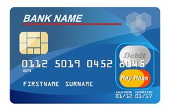 Credit Card. Illustration of a generic credit card isolated on white background stock illustration