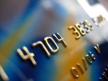 Credit Card. Close-up of a credit card Royalty Free Stock Photos