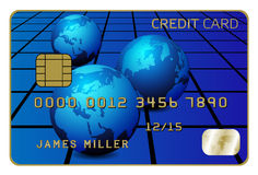 Credit Card. Illustration of Credit Card Isolated on White vector illustration