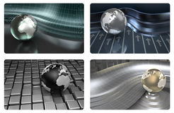 Credit card 3D design backgrounds. Ready for print at 900 dpi Royalty Free Stock Photo
