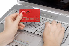 Credit Card 4. Credit card online shopping human hand Stock Photos