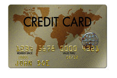Credit Card. Typical plastic credit card with expiration date Stock Photos