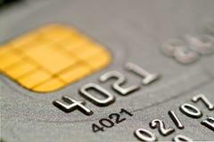 Credit Card. Silver Credit Card close up Royalty Free Stock Photos