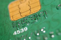 Credit card. Detail with number Stock Image