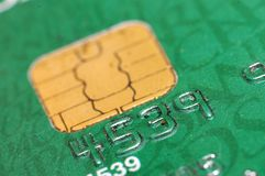 Credit card. Detail with number Royalty Free Stock Photos