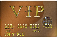 Credit Card. Typical platic credit card with ecpiration date Stock Photo