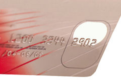 Credit card. Closeup illustration of a credit or a charge card royalty free stock photo