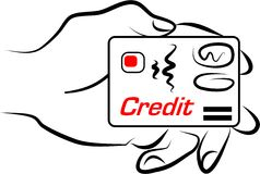 Credit card. Making a payment with a credit card Royalty Free Stock Images