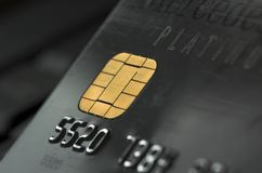 Credit Card. Close up showing first numbers royalty free stock photography