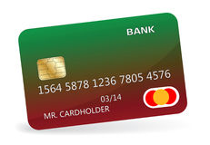 Credit card. Variant of design of a credit card. Vector illustration Stock Photo