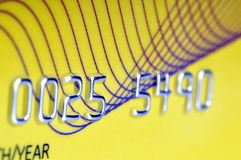 Credit card. Personal number in credit card Royalty Free Stock Image