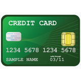Credit card. Illustration of a generic looking credit card, with hologram and chip Stock Photography