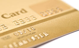Credit card. Isolated over white background Royalty Free Stock Image