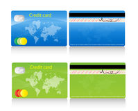 Credit card. An illustration of a 2 color credit cards Royalty Free Stock Photos
