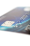 Credit card. Plastic banking card with smart chip Royalty Free Stock Photos