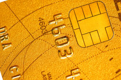 Credit card. Detail of a credit card Stock Photo