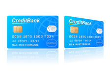 Credit card. Vector illustration of a credit card Stock Images