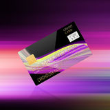 Credit card on abstract background vector illustration