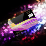 Credit card  on  abstract  background Royalty Free Stock Photography