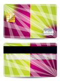 Credit card with abstract design Stock Image