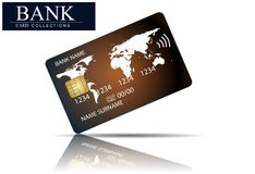 Credit card . Abstract design for business, payment history, shopping malls, web, print. Credit card . Abstract design for business, payment history Stock Photography