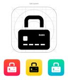 Credit card abstract padlock icon. Secure Payment. Vector illustration Royalty Free Stock Image