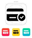 Credit card access icon. Vector illustration vector illustration