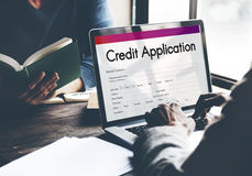 Credit Card Application Form Concept Royalty Free Stock Photography