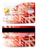 Credit card with arrow design Royalty Free Stock Photo