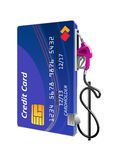Credit card as gas pump Royalty Free Stock Photo