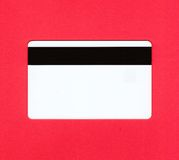 Credit card - back Royalty Free Stock Images