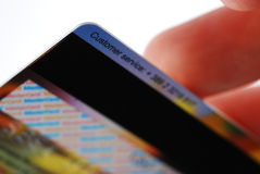 Credit card back Stock Image