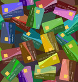 Credit card background seamless Royalty Free Stock Photos