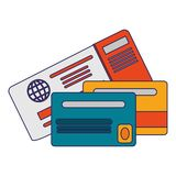 Credit card with backside. Isolated vector illustration graphic design stock illustration