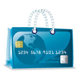Credit card bag Stock Photo