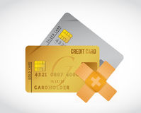 Credit card band aid fix solution concept Royalty Free Stock Photo