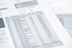 Credit Card Bank Statement Stock Photos