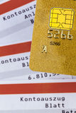 Credit card and bank statement Stock Photography