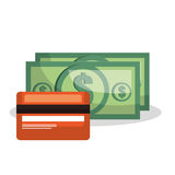Credit card bill money dollar isolated Stock Photo