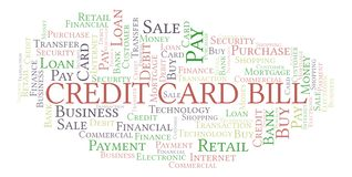 Credit Card Bill word cloud. Wordcloud made with text only royalty free illustration