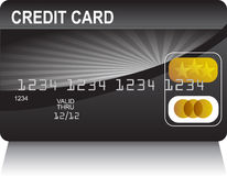 Credit Card Black Gold Royalty Free Stock Photo