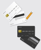 Credit card black and white Royalty Free Stock Photography