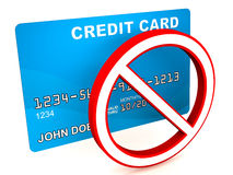 Credit card blocked Royalty Free Stock Photos