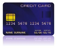 Credit card blue Royalty Free Stock Photos
