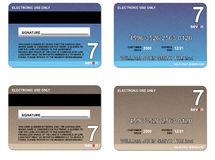 Credit card blue brown Royalty Free Stock Image